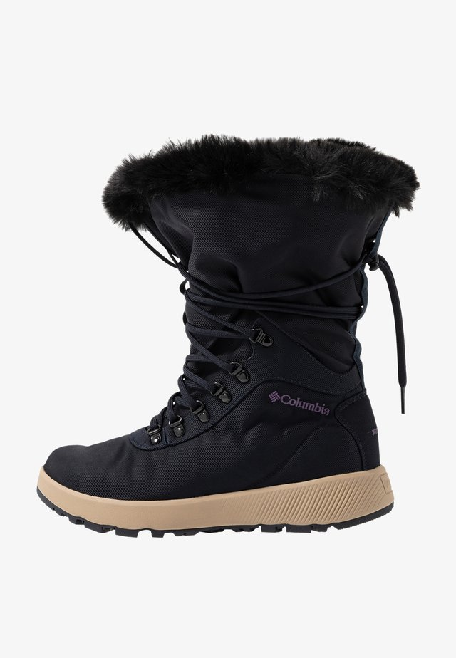 SLOPESIDE VILLAGE OMNI-HEAT - Bottes de neige - extreme midnight/cyber purple
