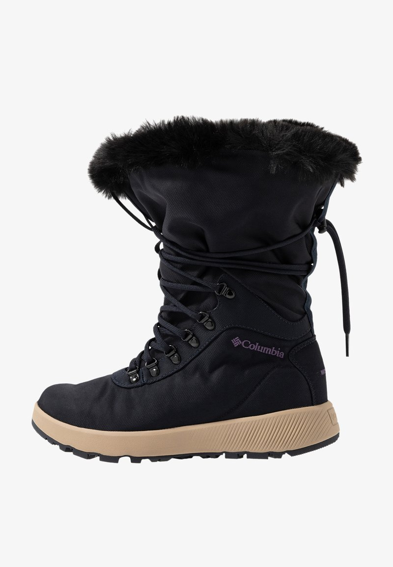 Columbia - SLOPESIDE VILLAGE OMNI-HEAT - Śniegowce - extreme midnight/cyber purple