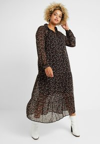 New Look Curves - PRINT MIDI - Maxikjoler - black - 2