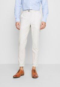 Jack & Jones - LINEN MIXED FIBER SUIT PANTS - Suit trousers - string - 2