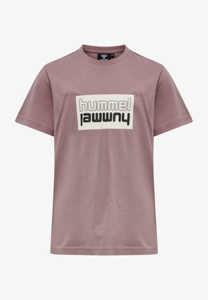 Print T-shirt - twilight mauve