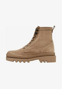Massimo Dutti - Lace-up ankle boots - beige - 0