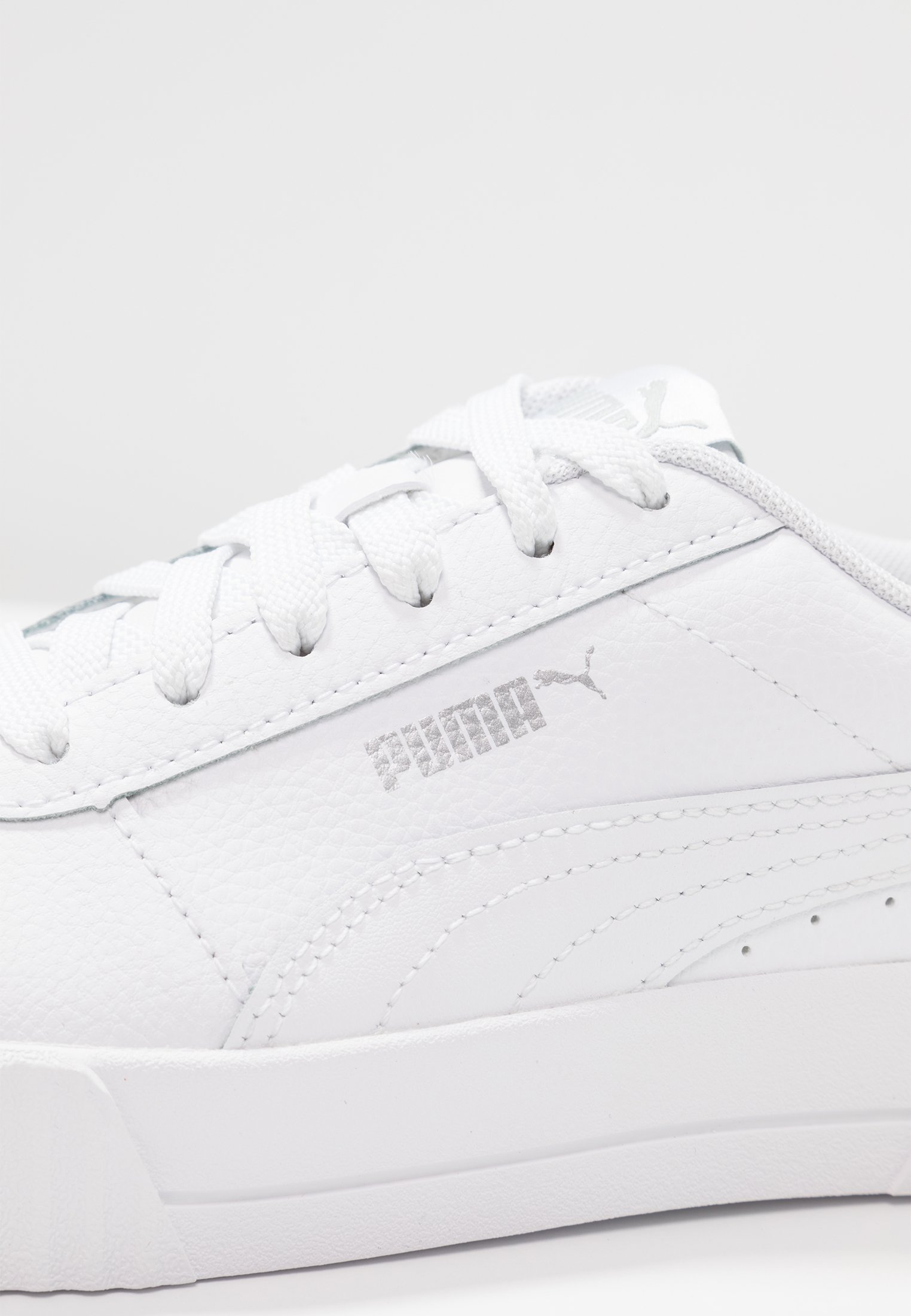 CARINA - Baskets basses - white/silver