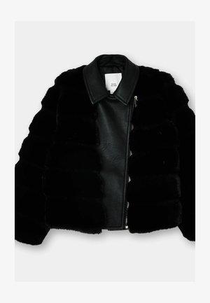 GIRLS  - Faux leather jacket - black