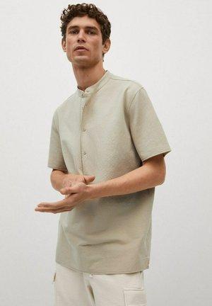 MED MAO-HALS - Shirt - beige