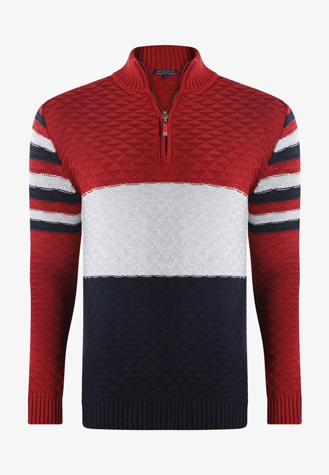 Maglione - bordeaux navy