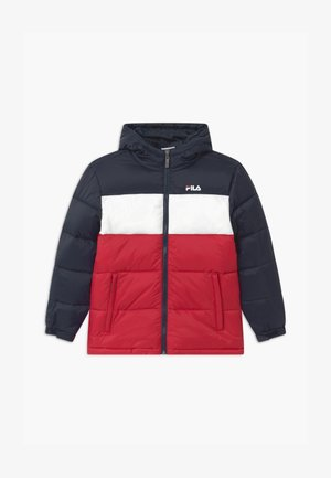 BROOKLYN PUFFER UNISEX - Chaqueta de invierno - black iris/true red/bright white