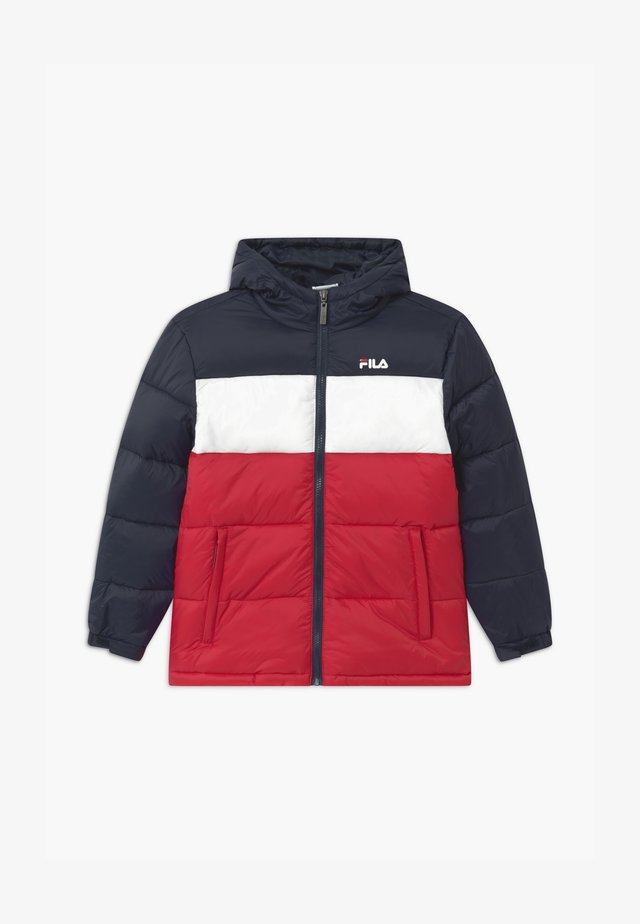 BROOKLYN PUFFER UNISEX - Talvitakki - black iris/true red/bright white