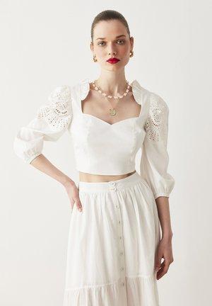 EYELET - Blouse - off white