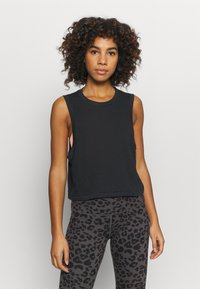 Cotton On Body - ALL THINGS FABULOUS CROPPED MUSCLE TANK - Top - black - 0