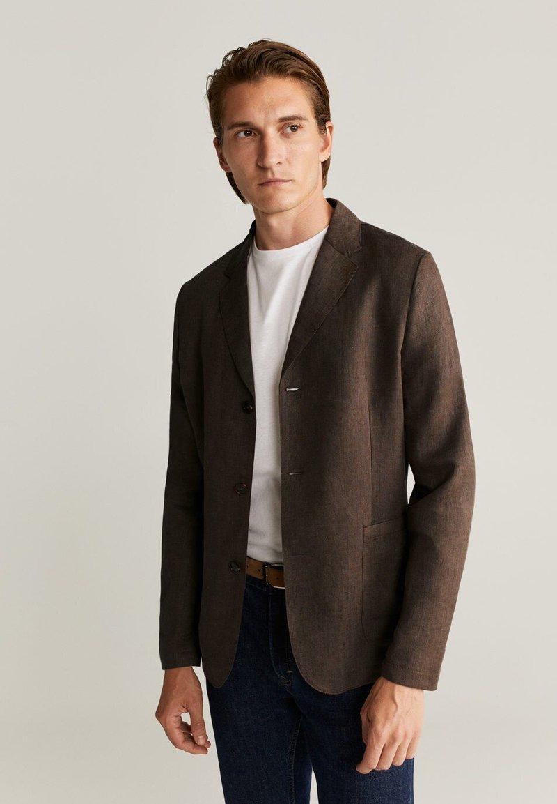 Mango - BISLEVA - Blazer jacket - braun