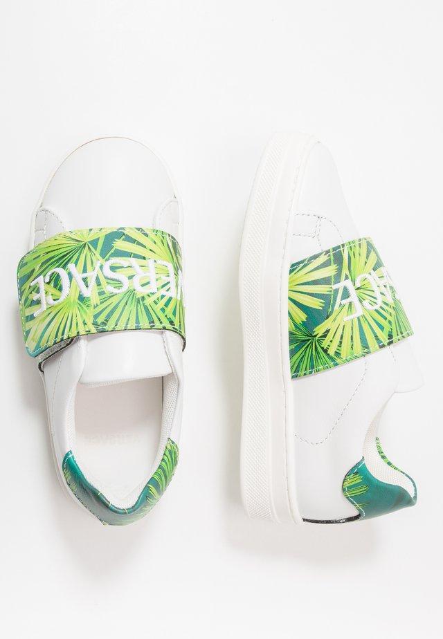 FLASH BAMBINO - Matalavartiset tennarit - bianco/multicolore verde
