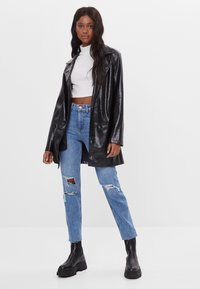 Bershka - Relaxed fit jeans - blue denim - 1