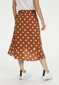 InWear - A-line skirt - roasted pecan polka dot - 2