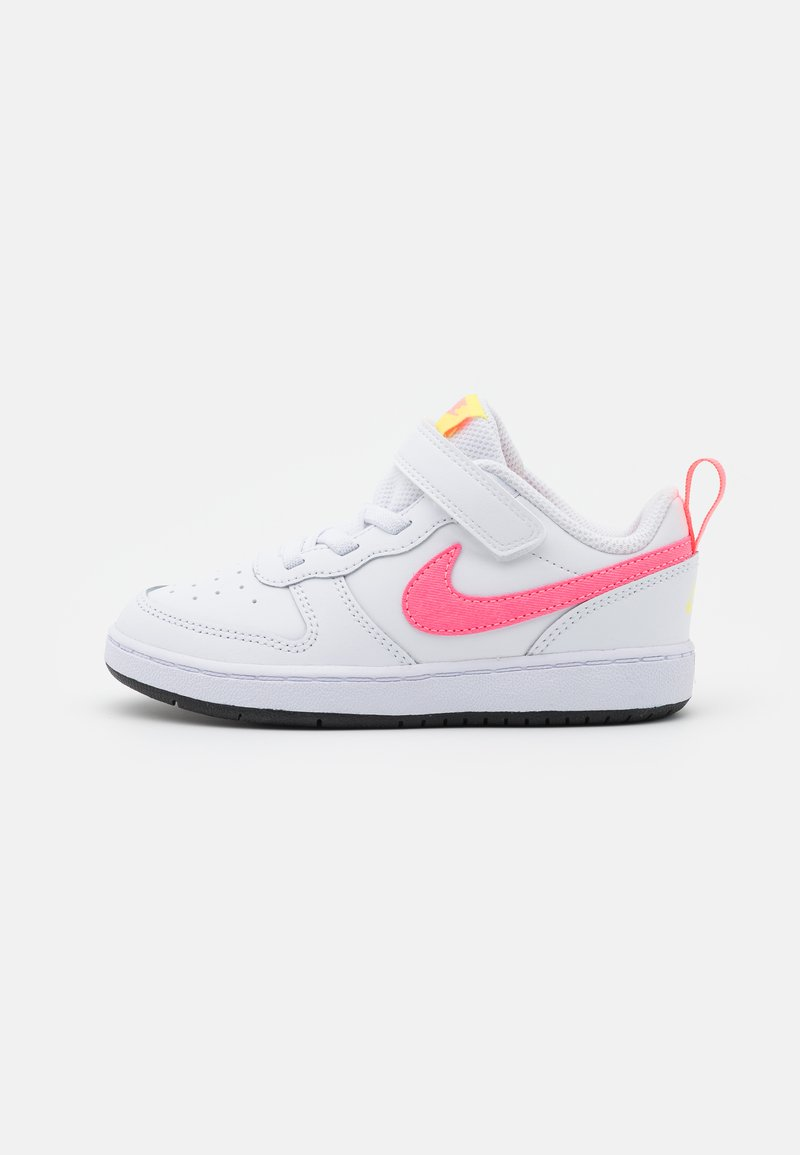 Nike Sportswear - COURT BOROUGH 2 UNISEX - Trainers - white/sunset pulse/light zitron/black
