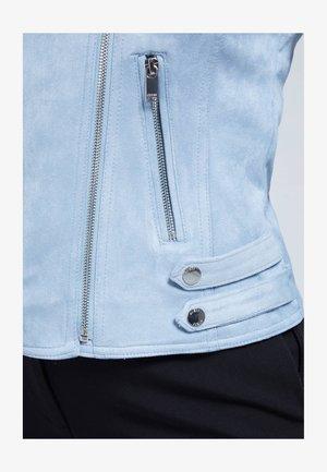 Faux leather jacket - blau