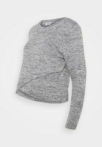 Cotton On - CROSS OVER FRONT LONG SLEEVE 2 PACK - Strikkegenser - black/greys twist - 3