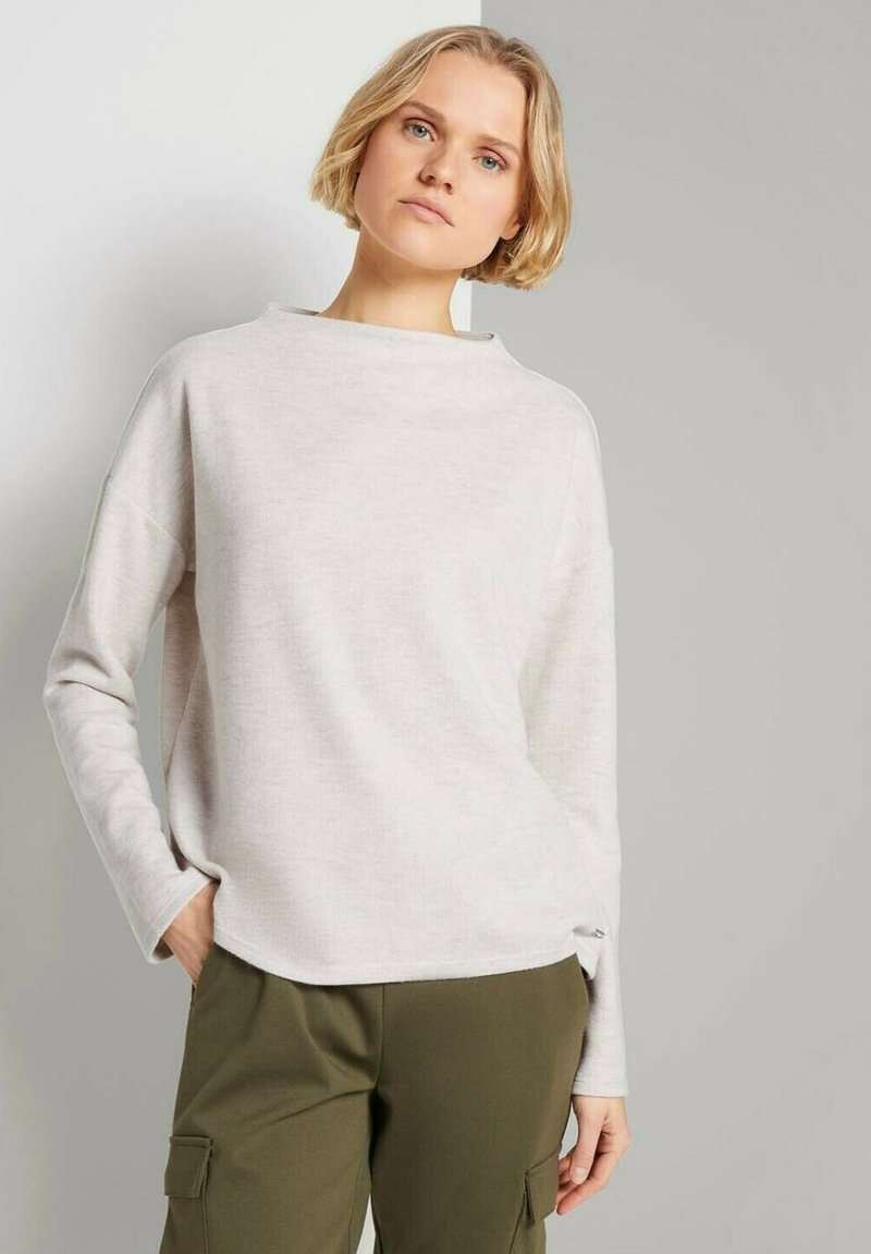 TOM TAILOR DENIM - Sweatshirt - creme beige melange