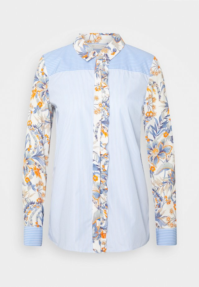 BLOUSE PRINT MIX - Camicetta - dove blue