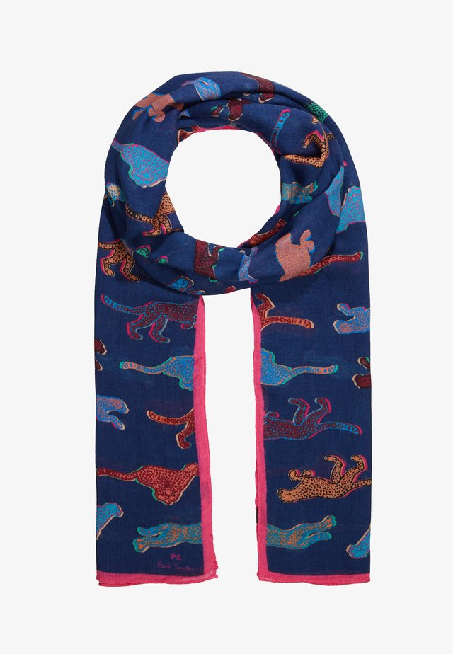 WOMEN SCARF LIVE FASTER - Sjal - navy