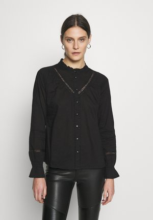 MANNA - Button-down blouse - pitch black
