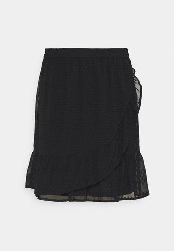 ONLSOFIA WRAP KNEE  - A-line skirt - black