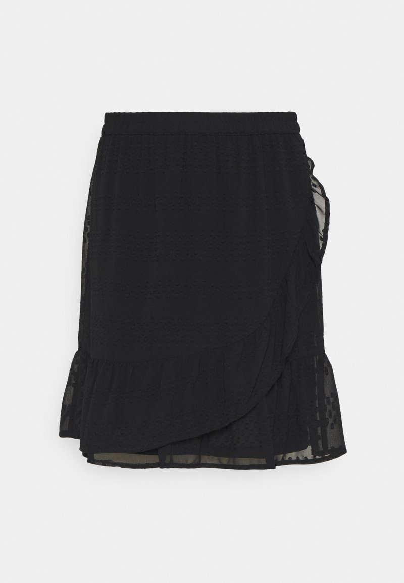 ONLY - ONLSOFIA WRAP KNEE  - A-line skirt - black