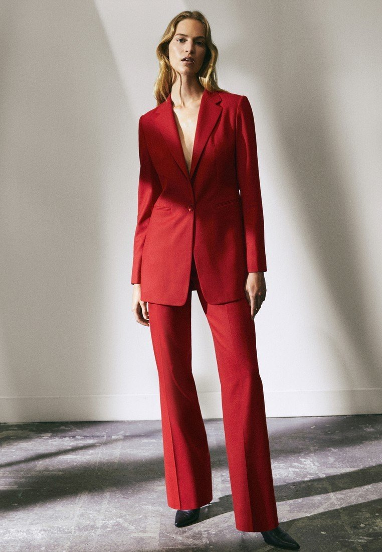 Massimo Dutti - LIMITED EDITION - Trousers - red