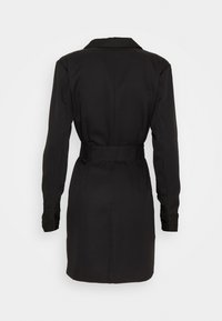 Missguided - DOUBLE BREASTED BELTED BLAZER DRESS - Vestido camisero - black - 1