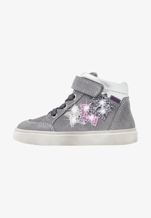 High-top trainers - ash/silver