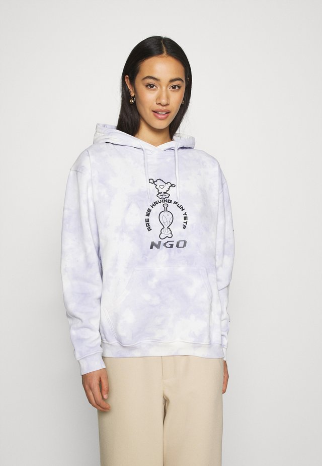 MEGAMIX TIE DYE HOODIE - Jersey con capucha - lilac