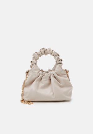 GIA GATHERED HANDLE POUCH BAG - Bolso de mano - porcelain
