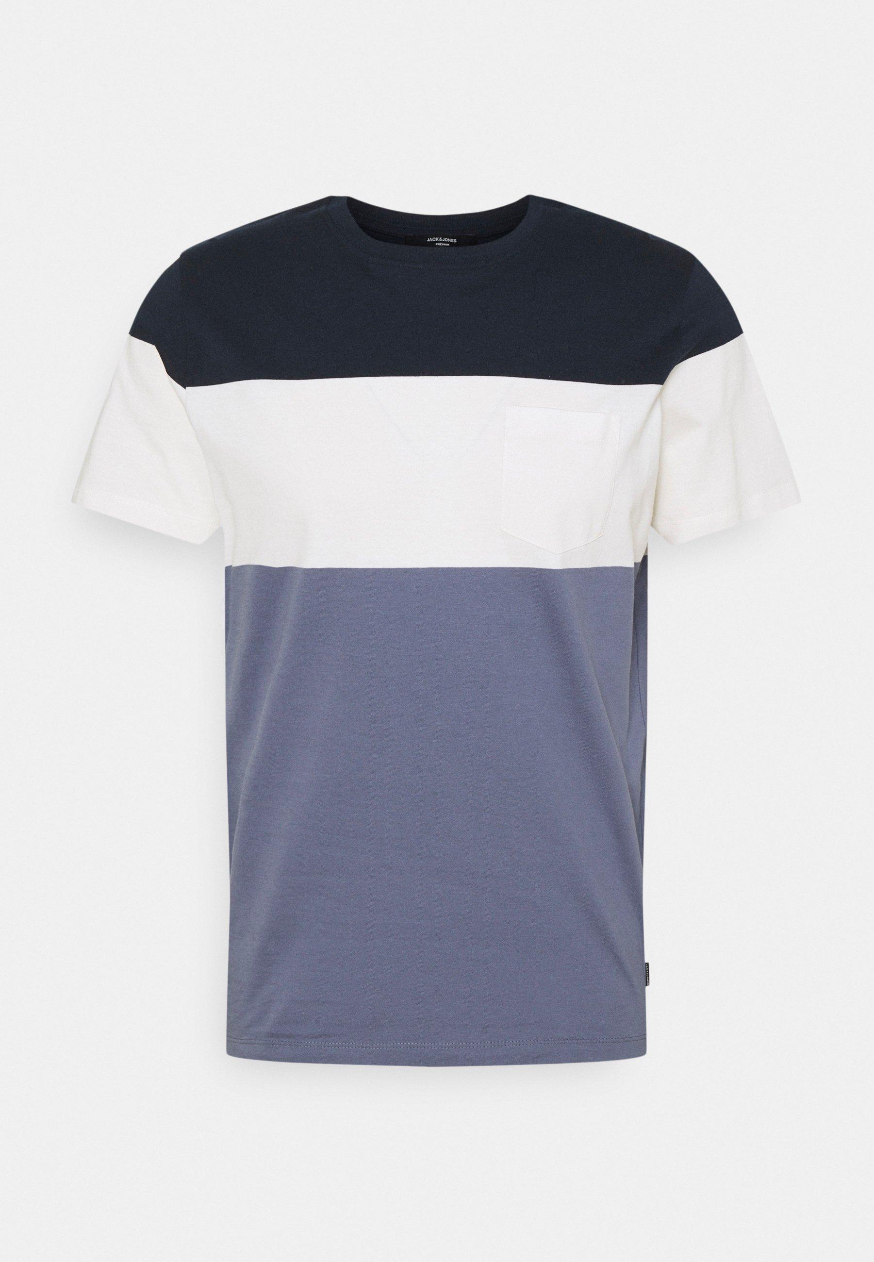 Men JPRBLAREPEAT TEE CREW NECK - Print T-shirt
