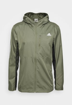 OWN THE RUN HOODED WINDBREAKER - Treningsjakke - legacy green/legend earth/black