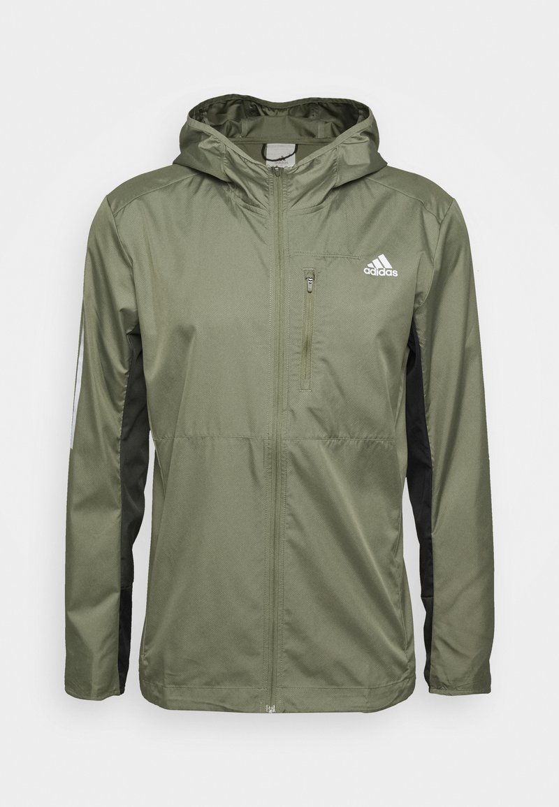 adidas Performance - OWN THE RUN HOODED WINDBREAKER - Training jacket - legacy green/legend earth/black