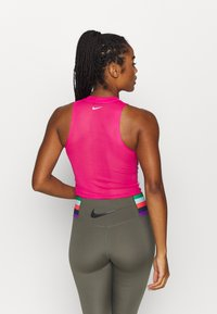 Nike Performance - PRINTED TANK PALM - Top - worn brick/watermelon/white - 2