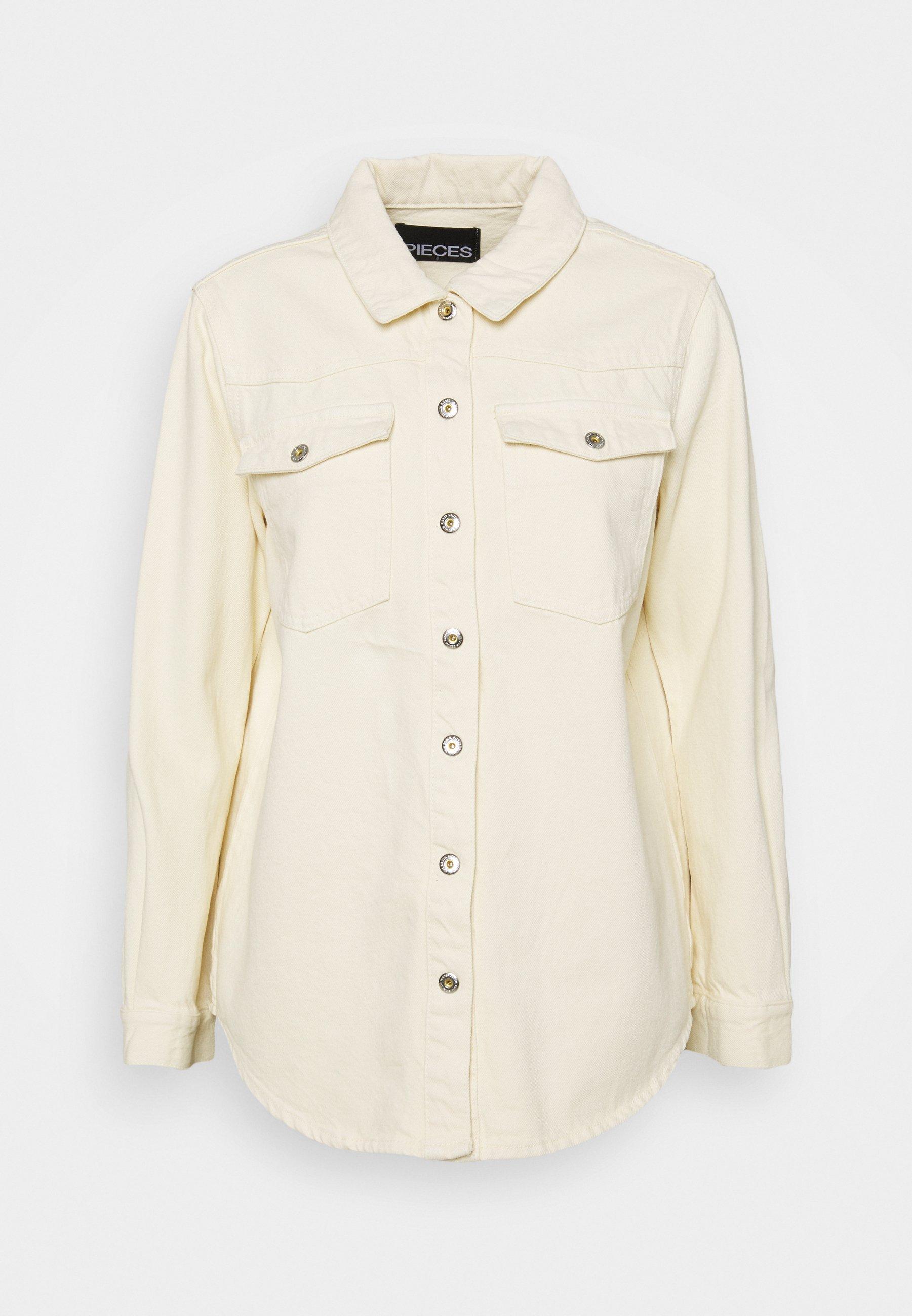 Women PCGRAY SHACKET - Denim jacket