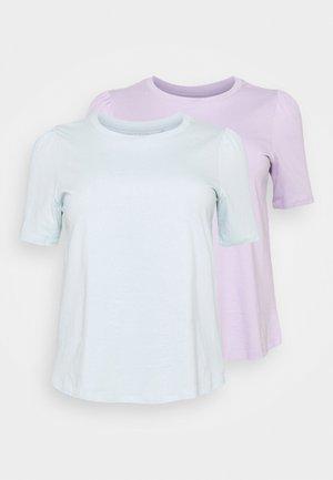 GATHERED SLEEVE TEE 2PACK - Basic T-shirt - lilac