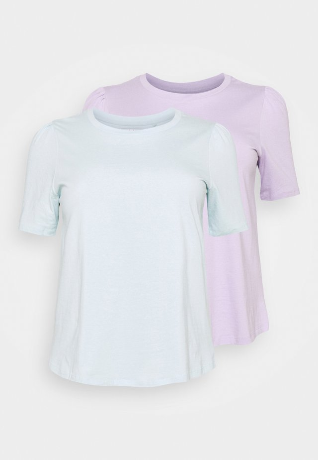 GATHERED SLEEVE TEE 2PACK - T-shirt basique - lilac