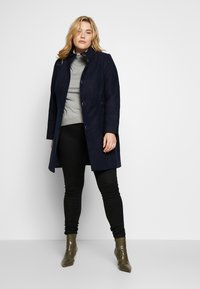 Evans - FUNNEL NECK COAT - Kåpe / frakk - navy - 1