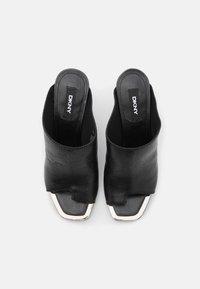 DKNY - BASHA PEEP TOE MULE - T-bar sandals - black - 5