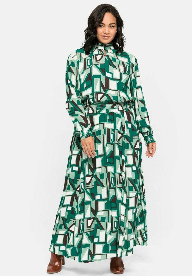 Sheego - Maxi dress - green