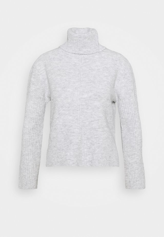 FUNNEL NECK JUMPER - Pullover - grey