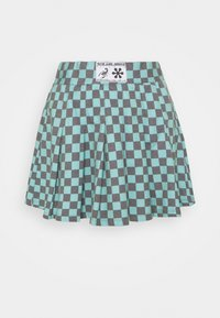 NEW girl ORDER - CHECKERBOARD SKIRT - Plisséskjørt - black/green - 4