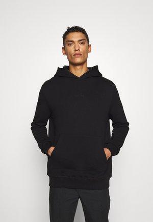 BIRD MOTIF EMBORIDERED HOODY - Sweatshirt - black