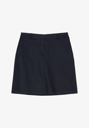 ELASTIC AT BACK - A-line skirt - midnight blue