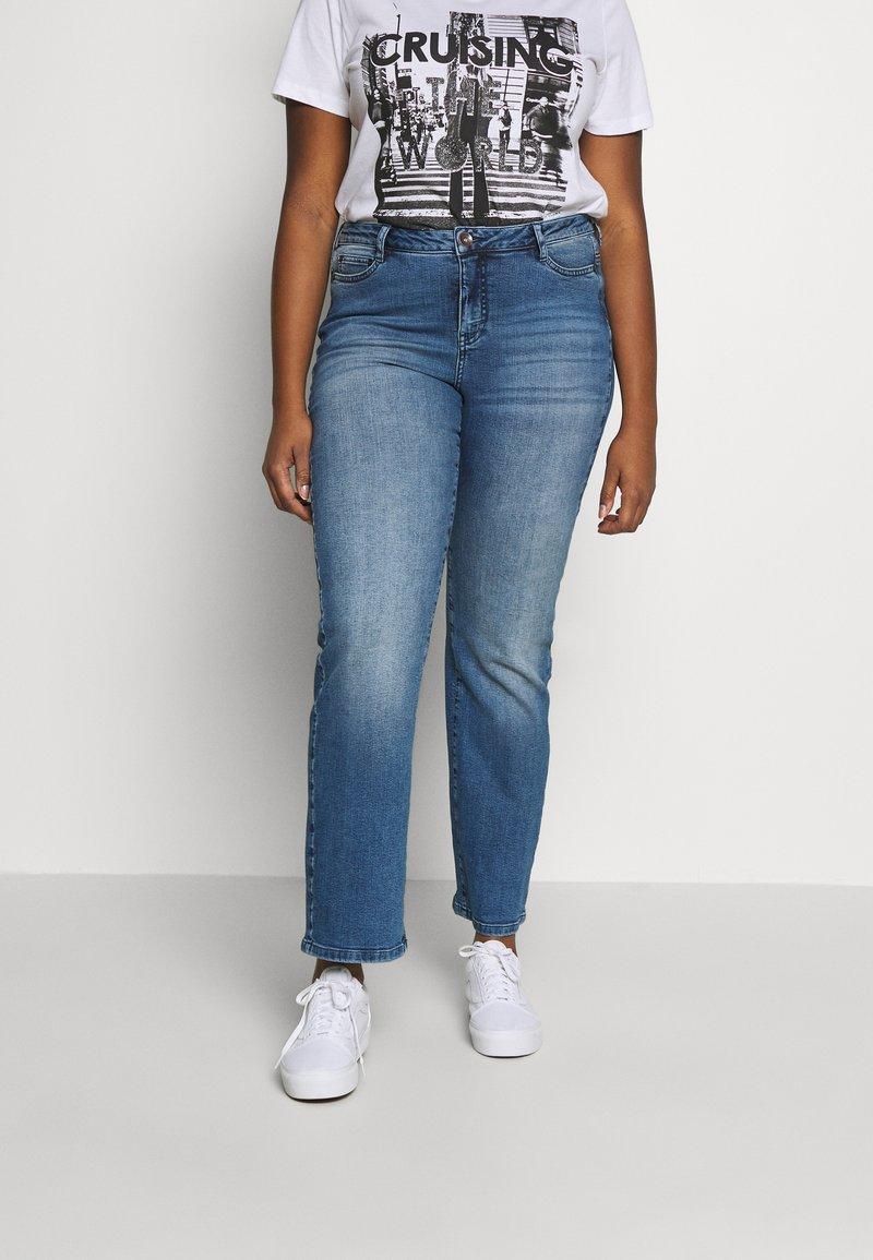 JUNAROSE - by VERO MODA - JRTENJUVA  - Jeans straight leg - medium blue denim