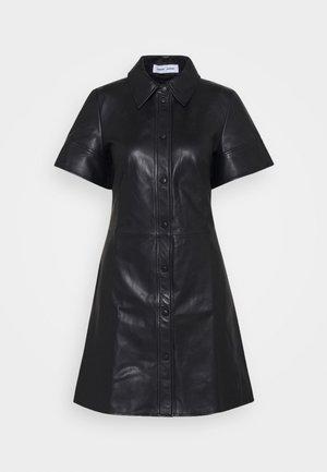SHEREEN - Abito a camicia - black