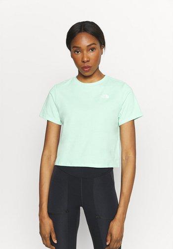 FOUNDATION CROP TEE - Basic T-shirt - misty jade heather