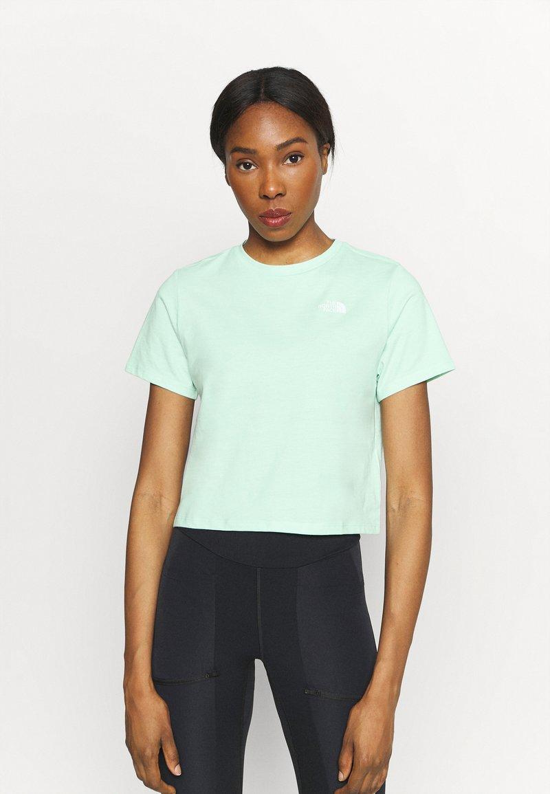 The North Face - FOUNDATION CROP TEE - Basic T-shirt - misty jade heather